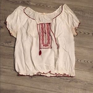 White American Eagle Top Size XL